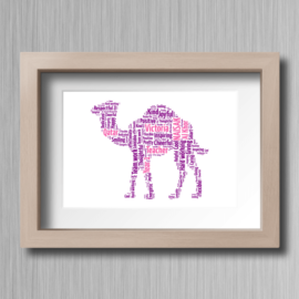 Camel-Personailsed-Word-Cloud-Gift-1